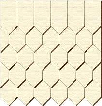 /Gotico forma/ In vero legno impiallacciato scuro tegole/ /dimensioni e quantit/à di selezione 15mm x 7.5mm 100 pezzi