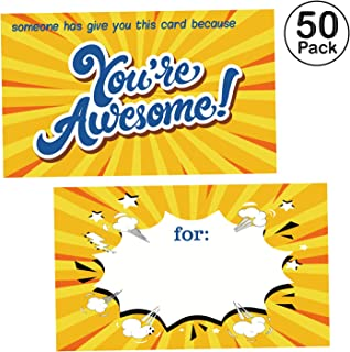 50 You are Awesome Cards -Thank You Appreciation Gifts Cards - You are Awesome Recognition, Encouragement and Kindness Notes for Employees, Teachers, Staff, Graduation, Friends, Family, Co-Workers.