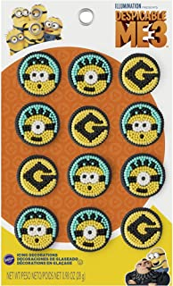 Wilton 710-7112 Despicable Me 3 Minions Icing Decorations, Assorted