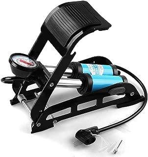 Ultra Zon® Portable Double Barrel Floor Pump for Car Motorcycle Bike Tires Foot Air Pump Inflator with Pressure Gauge