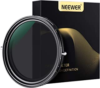 Neewer 82mm Variable Fader ND2-ND32 ND Filter and CPL Circular Polarizing Filter 2 in 1 for 82mm Thread Camera Lens No X S...