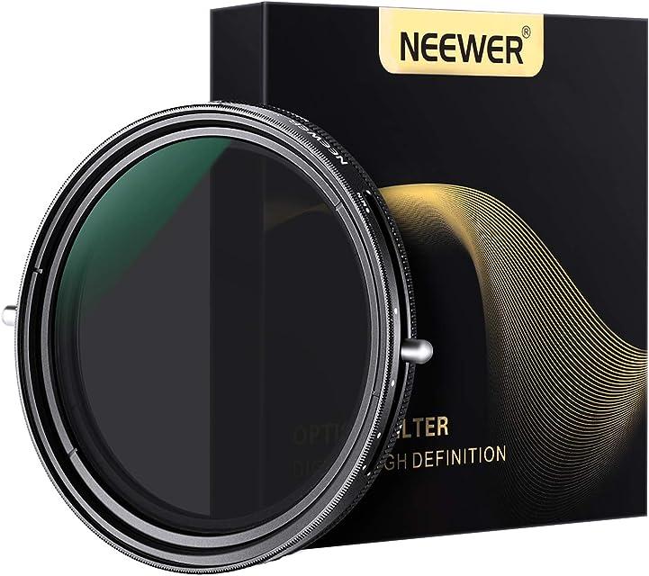 Neewer 67mm Fader Variable ND2-ND32 Filtro ND y Filtro Polarizador Circular CPL 2 en 1 para Lente Cámara con Rosca 67mm No X Spot Sealed Marco Aleación Aluminio