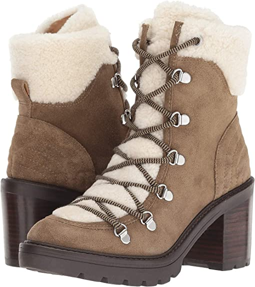 Taupe Suede / Shearling Fur