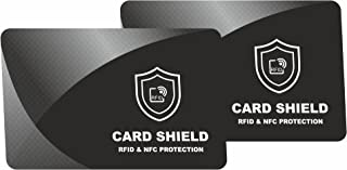 RFID & NFC Blocking Card for Wallets, Clip Holders, Passport, Backpack – Anti Theft Protector for Contactless Credit Cards by intervisio – Double Pack