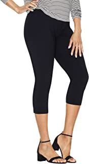 Just My Size womens Stretch Cotton Capri Leggings (Q88908)