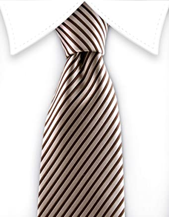 1d7fae7480c2 Gentleman Joe Brown & Taupe Striped Teen Tie Multicolored