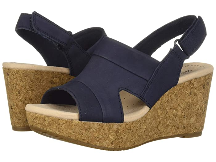Clarks  Annadel Ivory (Navy Nubuck) Womens  Shoes