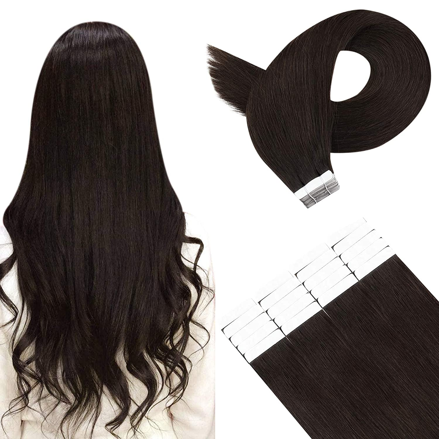 YoungSee Skin Weft Invisible Tape Max 89% Max 73% OFF OFF in Extensions Hair Human