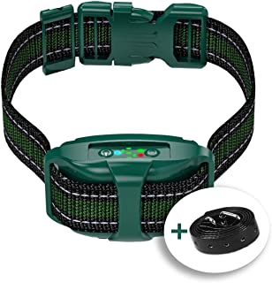 V7 Pro - Bark Collar for Small & Medium Dogs - Most Tunnel Humane Effective Vibration Rechargeable Upgraded 2020 - Anti-Barking Collar to Stop Barking - No Shock Waterproof - Safe Pet Control
