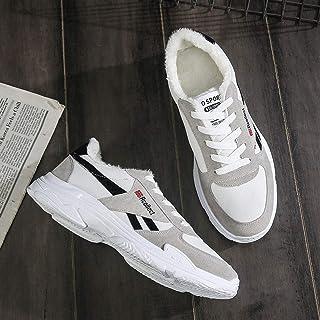 Autumn New Wild White Shoes Men's Simple Fashion Men's Casual Shoes Old Shoes Student Shoes (Color : Cashmere Black, Size : 41)