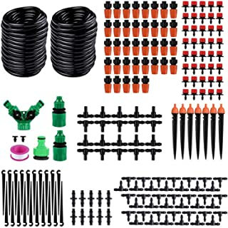 "Drip Irrigation kit,100ft/40M Garden Irrigation System, Adjustable Automatic Micro Irrigation Kits,1/4"" Blank Distribution..."