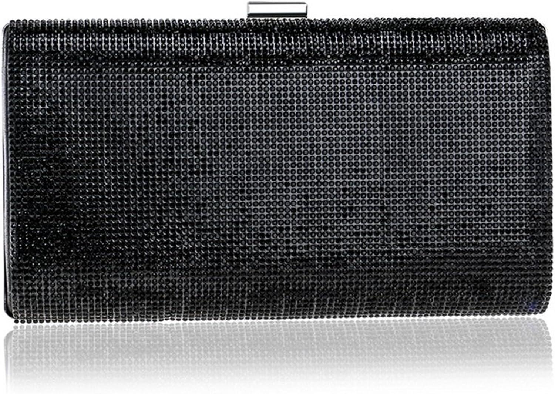 000000001 000000001 000000001 Damen Strass Abendtasche Kleider Clutches Handtasche Handtasche Umhängetasche (Farbe   schwarz) B07G1FRYDJ  Lass unsere Waren in die Welt gehen 5a2d59