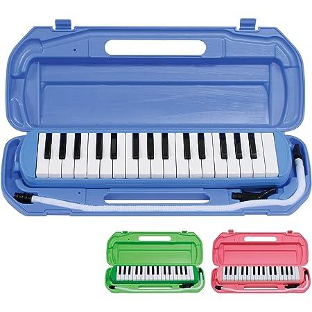 キクタニ 鍵盤ハーモニカ 32鍵 ブルー 取扱説明書兼保証書、名前シール付 MM-32 BLUE