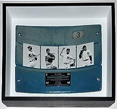 New York Yankees Stadium Game Used Seat Back & Commemorative Plate - Steiner Sports COA Authenticated - Custom Framed Shadowbox