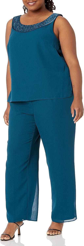 Le Bos Women's Fortuny Trim Long Jacket Pant Set