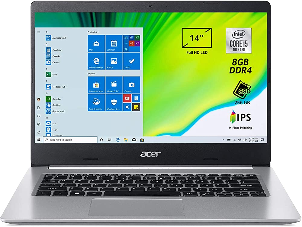 Acer aspire 5 pc portatile, notebook con processore intel core i5-ram 8 gb ddr4, 256 gb A514-53-53PB
