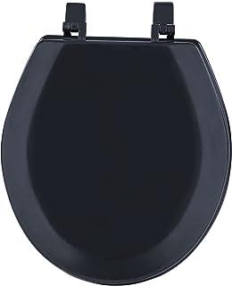 Achim Home Furnishings Black TOWDSTBK04 17-Inch Fantasia Standard Toilet Seat, Wood