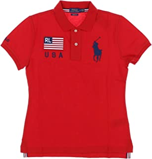 Men's Polo Shirts Skinny Fit Two-Button Placket Short Sleeve (M, Red)