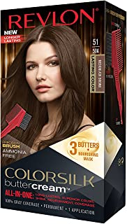 Revlon Colorsilk Buttercream Hair Dye, Medium Ash Brown, 1 Count