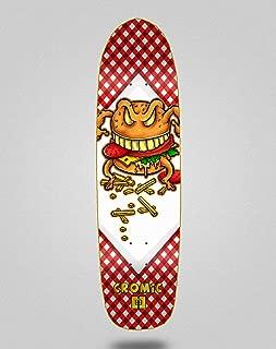 lordofbrands Pool Skate Skateboard monopatín Deck 8,5 Cromic Burger Crazy Food