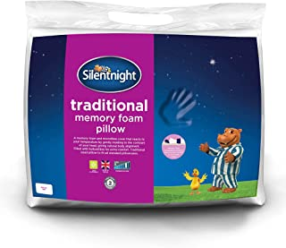 Silentnight Memory Foam Pillow, microfibre, White, Single (Packaging May Vary)