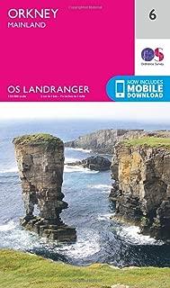 ORDNANCE SURVEY Landranger 6 Orkney Mainland Map with Digital Version
