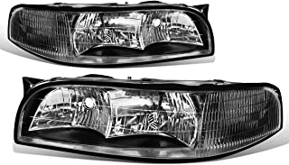 For Buick LeSabre Pair of Headlight (Black Housing Clear Corner) 7th gen