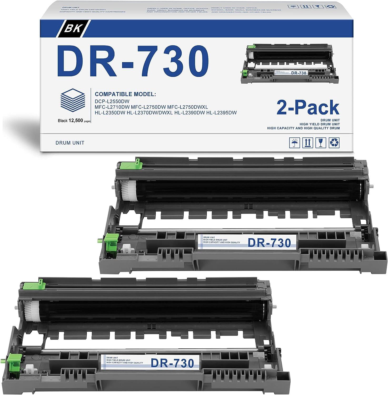 [Black,2-Pack] Compatible DR-730 Drum Unit Replacement for Brother MFC-L5800DW MFC-L5900DW DCP-L5500DN DCP-L5600DN DCP-L5650DN MFC-L6700DW MFC-L6750DW MFC-L5700DW Printer
