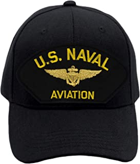 PATCHTOWN US Naval Aviation Hat/Ballcap Adjustable One Size Fits Most (Multiple Colors & Styles)