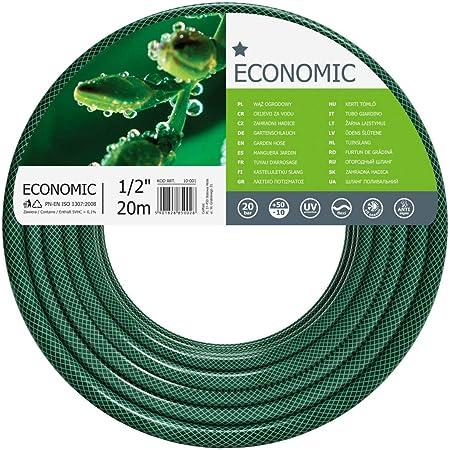 "Cellfast Garden Hose ECONOMIC 1/2"" 20 m, Flexible and Three-layer Hose, Resistance to UV, Internal Part Resistant to Algae, 10-001"