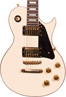 Sawtooth ST-H68C-ATQWH Heritage Series Maple Top Electric Guitar, Antique White