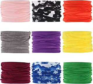 Landisun Headband Face Mask Bandanas Face Scarf Multifunctional Seamless 16-in-1 Sports High Elastic Magic,  Outdoor & Casual UV Protection