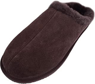 SNUGRUGS Men's Newbury Open Back Sheepskin Slippers