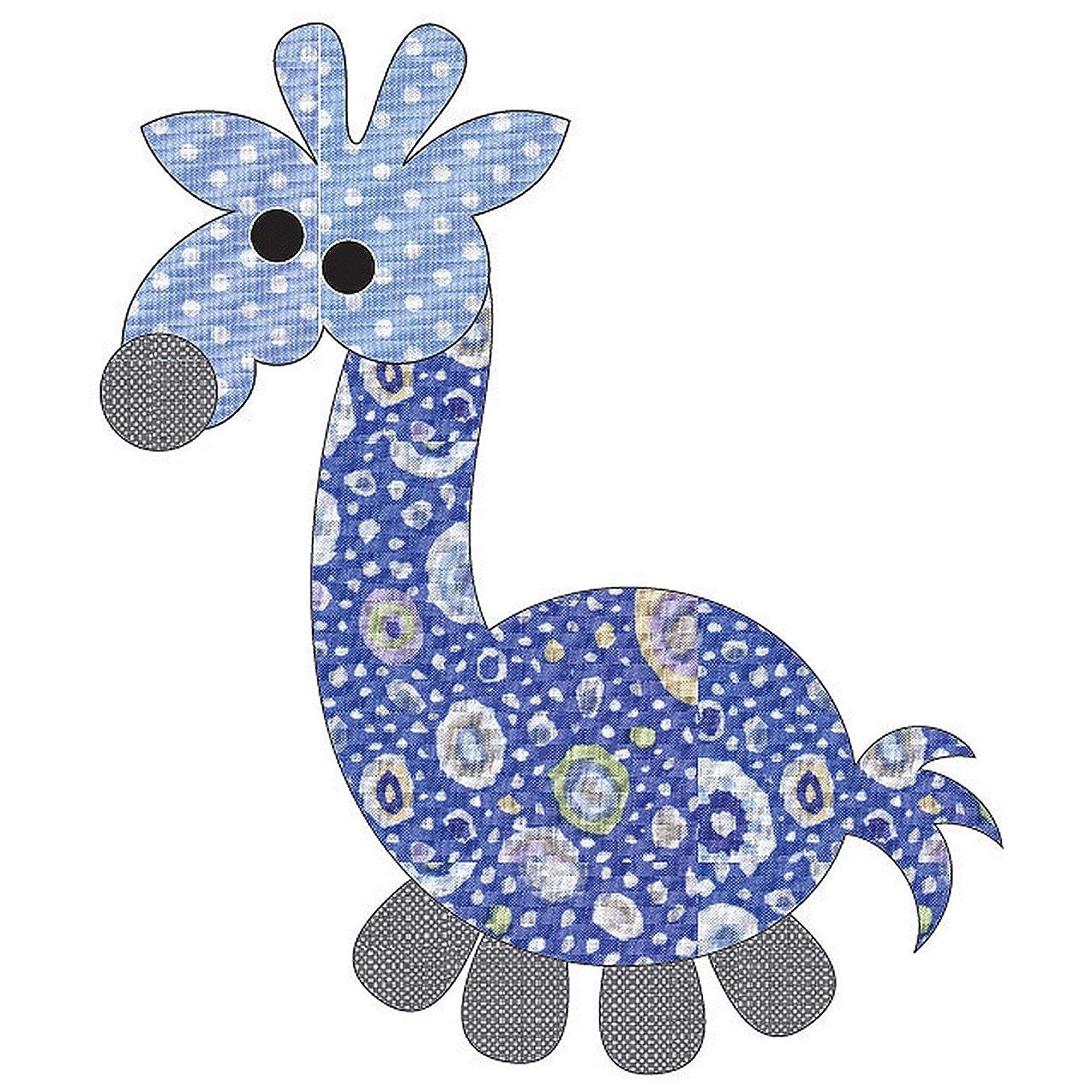 Quilting Creations Laser Cut Fusible Animal Crackers Giraffe Dotz Applique, Blue