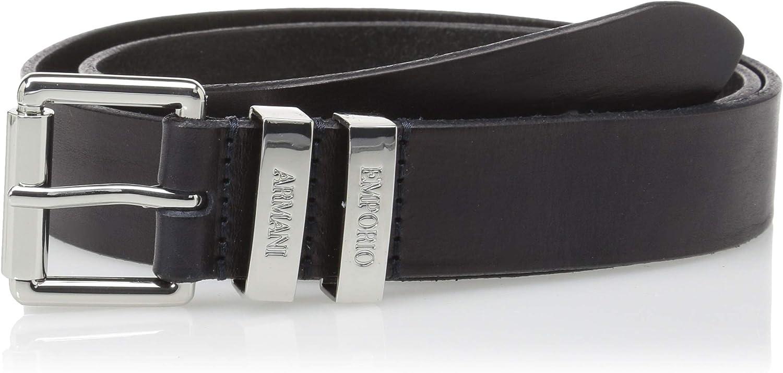 Emporio Armani womens Volanato Leather Belt Belt