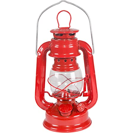 Stansport Small Hurricane Lantern (Red, 8-Inch) 130 One Size