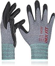 DEX FIT Nitrile Work Gloves FN330, 3D Comfort Stretch Fit, Durable Power Grip Foam..