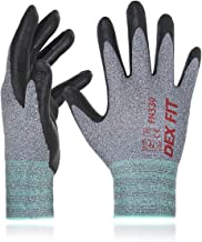 DEX FIT Nitrile Work Gloves FN330, 3D Comfort Stretch Fit, Durable Power Grip Foam..