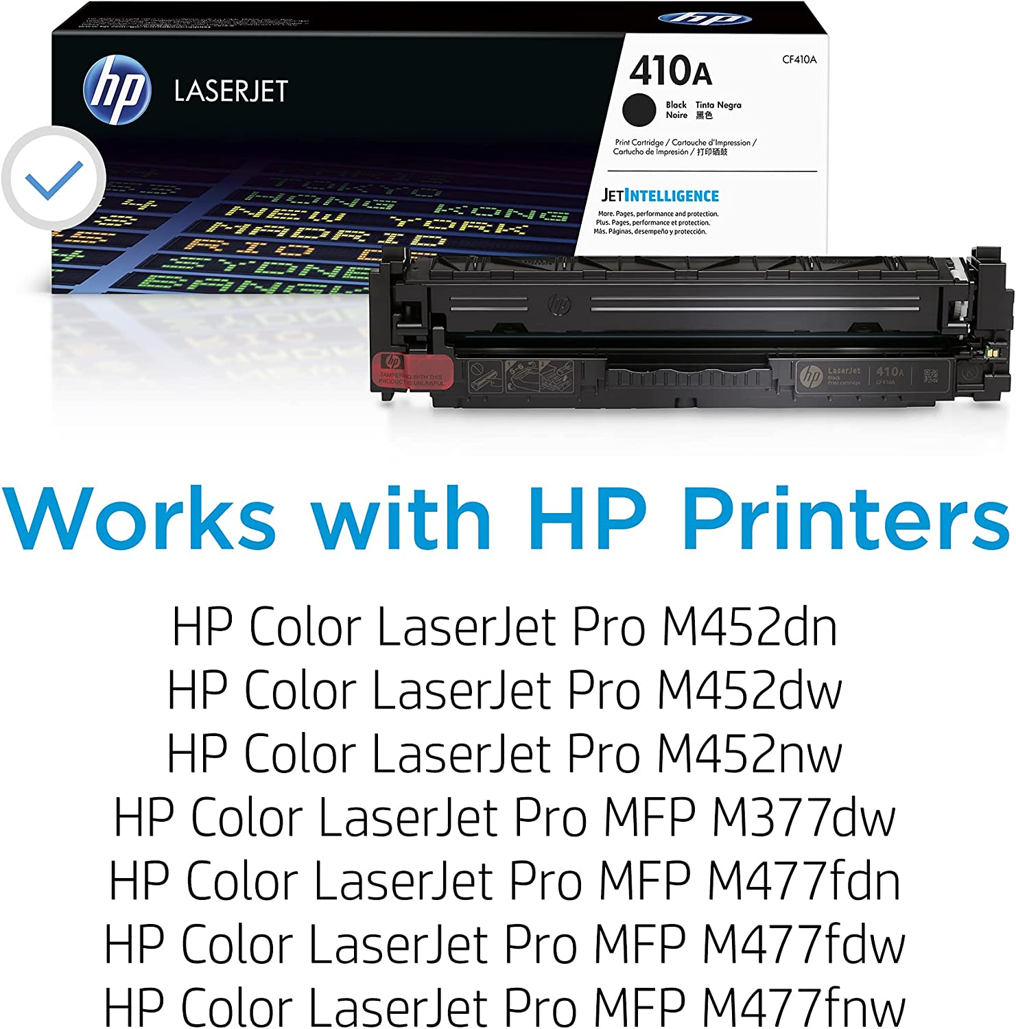 HP 410A | CF410A | Toner-Cartridge | Black | Works with HP Color LaserJet Pro M452 Series, M377dw, MFP 477 Series