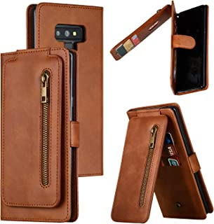 LODROC Lederen Wallet Case voor Samsung Galaxy Note 9, [Kickstand Feature] Luxe PU Lederen Wallet Case Flip Folio Cover me...