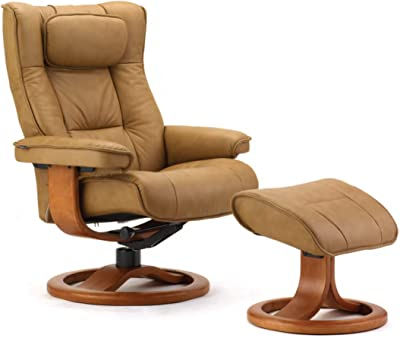 Stilig Amazon.com: Fjords 855 Loen Large Leather Recliner Norwegian XJ-84