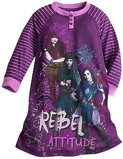 Mal, Uma, and Evie Nightshirt for Kids - Descendants 2 Purple
