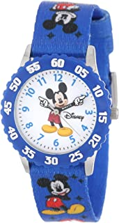 Disney Kids' W000232 Mickey Mouse Stainless Steel Time...