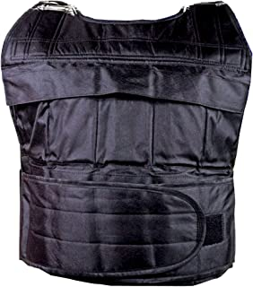 SAHNI SPORTS Nylon Fabric Pro Weighted Vest, 20 kg with Adjustable Straps for Men and Women (Standard Size, Black)