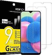 NEW'C 2 Unidades, Protector de Pantalla para Samsung Galaxy A30s, A40s, Antiarañazos, Antihuellas, Sin Burbujas, Dureza 9H, 0.33 mm Ultra Transparente, Vidrio Templado Ultra Resistente