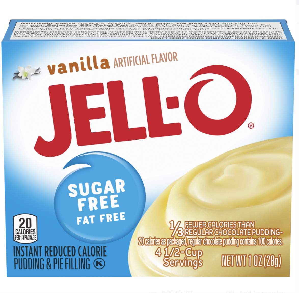 Jell-O Vanilla Sugar-free Instant Filling 1 year Ranking TOP6 warranty Pudding 3-pack Pie