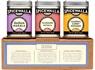 Spicewalla Indian Masala Spice Collection 3 Pack   Garam Masala, Tandoori Masala, Madras Curry Powder   Non-GMO, No MSG, G...