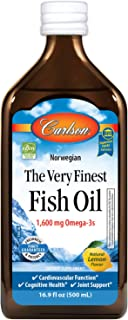 Carlson The Very Finest Fish Oil 1600 Mg Omega-3s, Lemon
