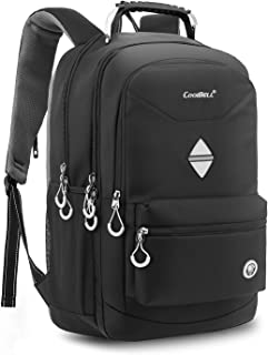 CoolBELL 18.4 Inch Backpack Laptop Bag Travel Rucksack Water-Resistant Hiking Knapsack Protective Day Pack Fits 15-18.4 Inch Laptop for Dell/HP/Lenovo/MacBook/Acer/Men/Women (Black)
