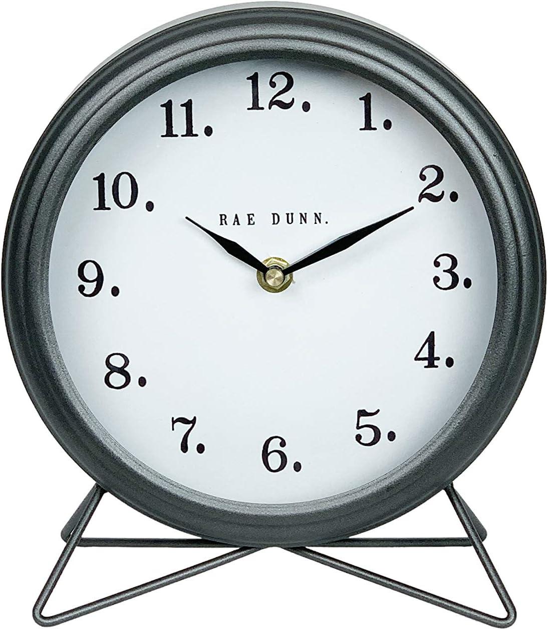favorite Rae Dunn Desk Clock - Battery Cheap Modern Desig Operated Round Rustic
